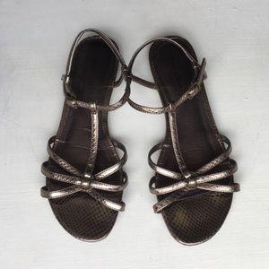 Pewter Isaac Mizrahi for Target Gladiator Sandals